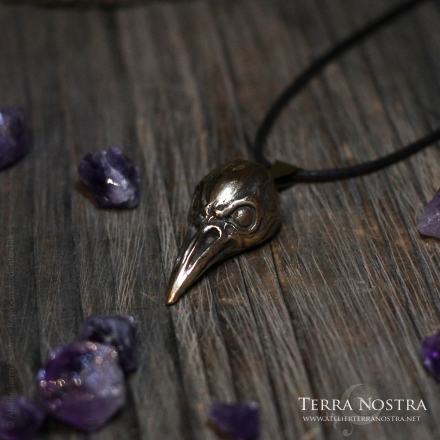 "Big pendant ""Corvus"" - Without stones"