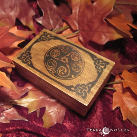 "Mini coffret en bois ""Celtic circle"""