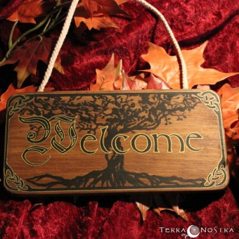 "Plaque murale ""Welcome"""