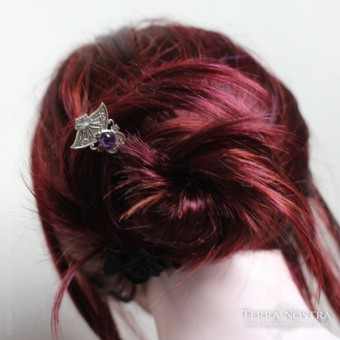 """Kat"" double hair pin"