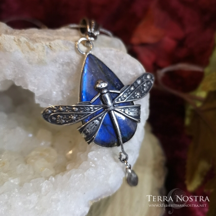 "copy of Grand pendentif ""Odonata Nila"" — Labradorite"